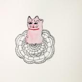 Sarjasta, Kattaus yhdelle, akvarelli ja tussi paperille 20x20, 2014