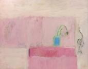 Lepäilyä vaaleanpunaisessa varjossa, akryyli kankaalle 2018, 73x92