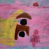 Auringonnousu, 2020, akryyli kankaalle, 40 x 50cm