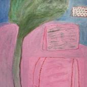 Lepopaikkoja, 2020, akryyli kankaalle, 70 x 50cm